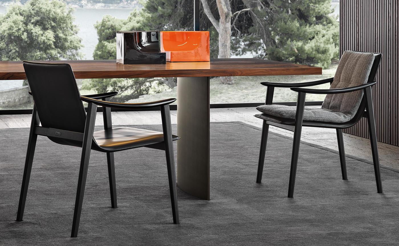 Minotti Fynn armchair dining chair Hora Barneveld 1.jpg