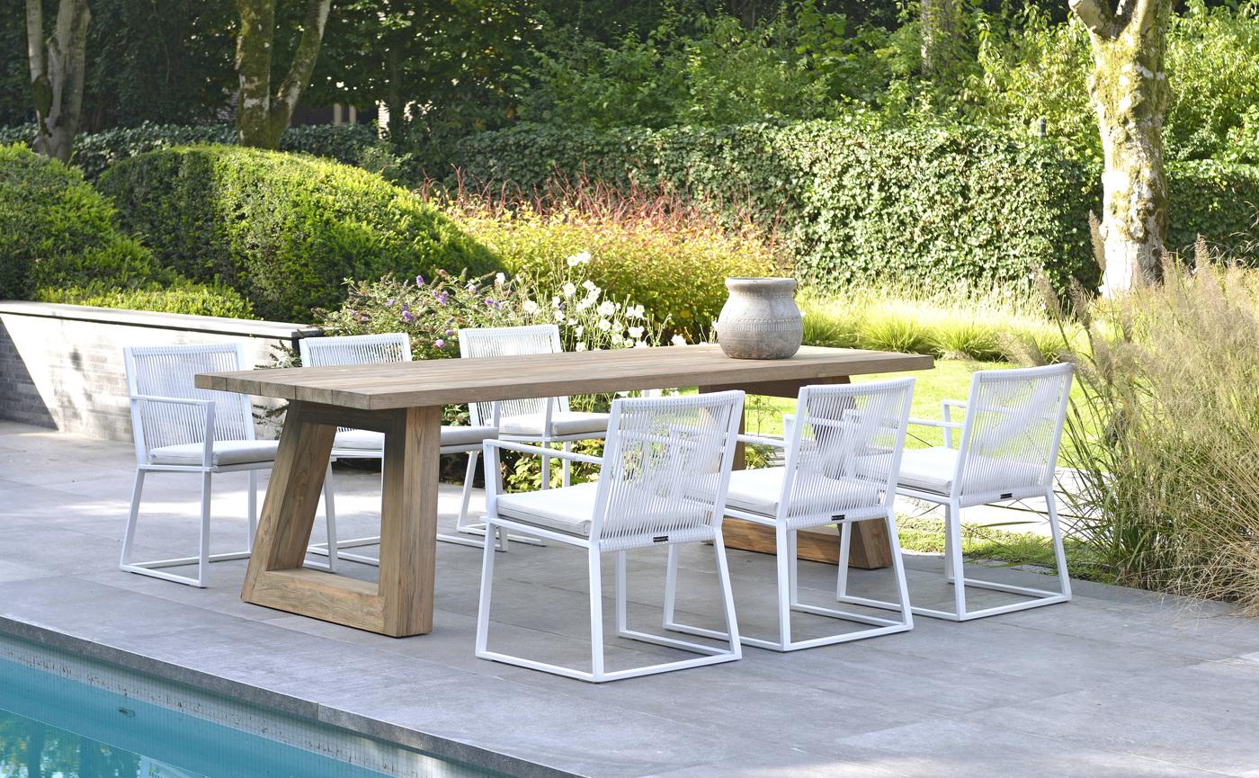 2020 Borek Reclaimed teak Parga table Studio Borek - Ardenza belt Lincoln chair white Studio Borek (side view).jpg