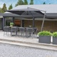 2021 Borek Ardenza belt Majinto high dining chair dark grey - Dekton Faro high dining table - aluminium parasol Capri (1)2.jpg