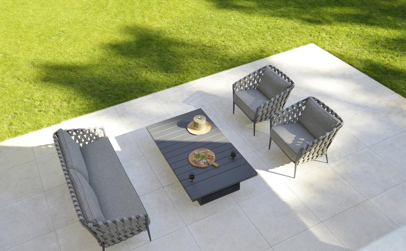 2019 Borek Ardenza belt Tavira lounge chair & sofa Studio Borek - Alu Samos coffee table Studio Borek (top view).jpg