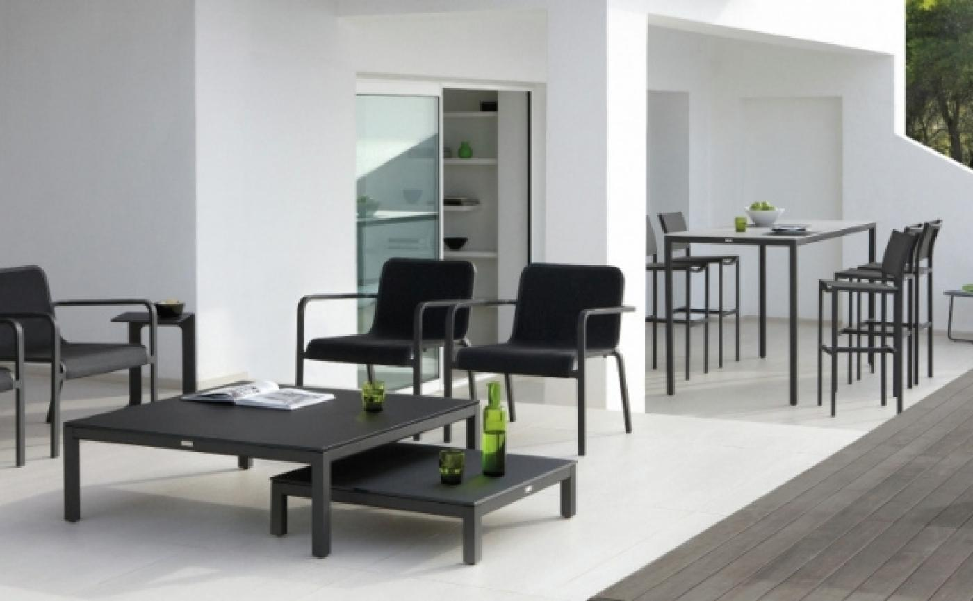 Quarto high dining table 105x105 cm