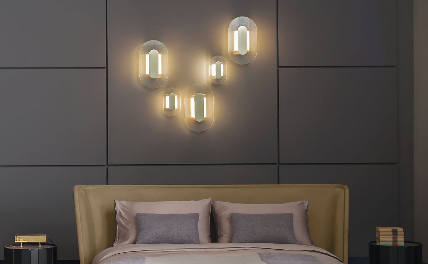 Button oval wall lamp