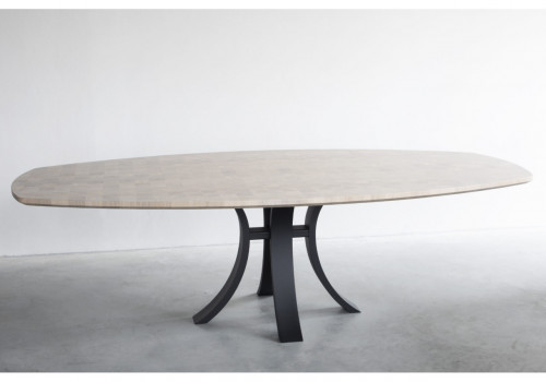 Kops slim semi-oval table