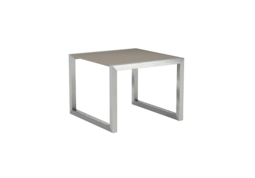 Sidetable Rvs Glas.Royal Botania Ninix 50 Side Table