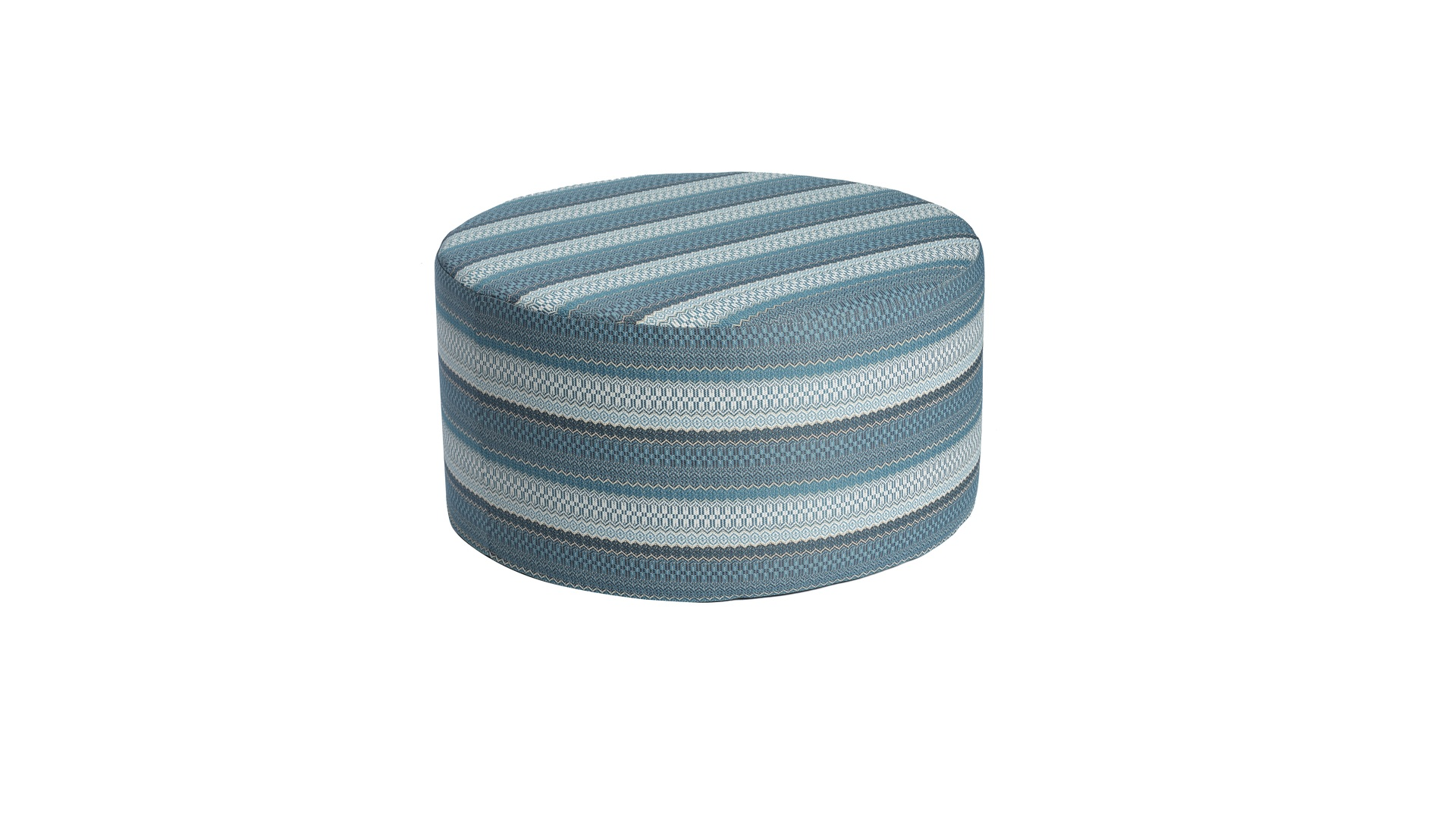 2020 Borek outdoor fabric Desio pouffe Ø80 azzuro 5541 3.jpg