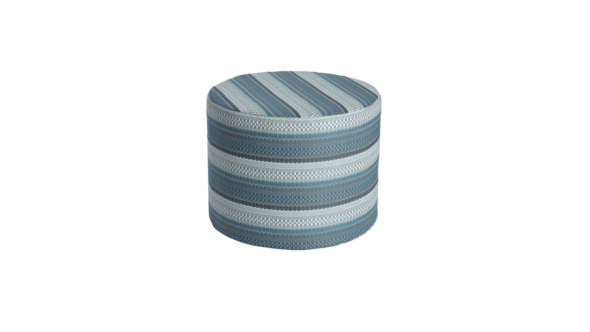 2020 Borek outdoor fabric Desio pouffe Ø60 azzuro 5540 2.jpg